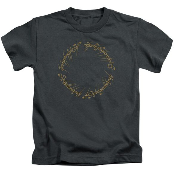Lord Of The Rings One Ring Short Sleeve Juvenile Charcoal T-Shirt