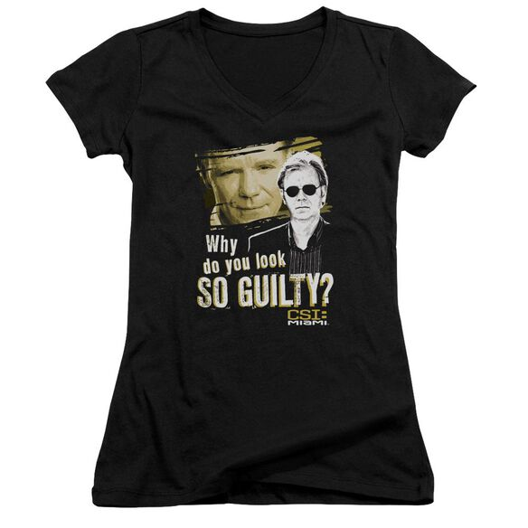 Csi Miami So Guilty Junior V Neck T-Shirt