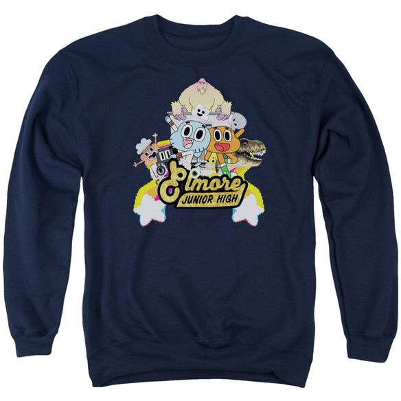 Amazing World Of Gumball Elmore Junior High Adult Crewneck Sweatshirt