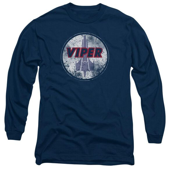 Bsg War Torn Viper Logo Long Sleeve Adult T-Shirt