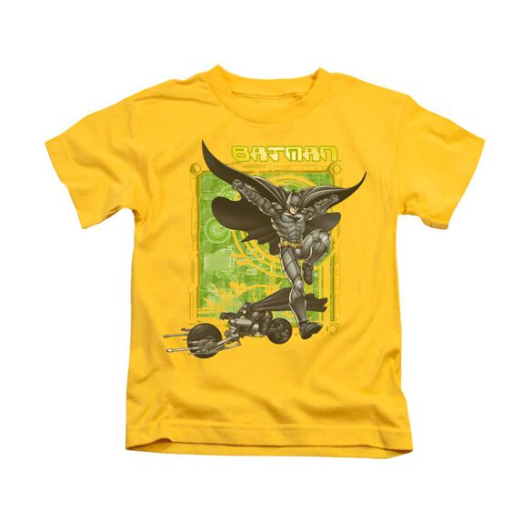 Dark Knight Hi Tech Gear Short Sleeve Juvenile Yellow T-Shirt