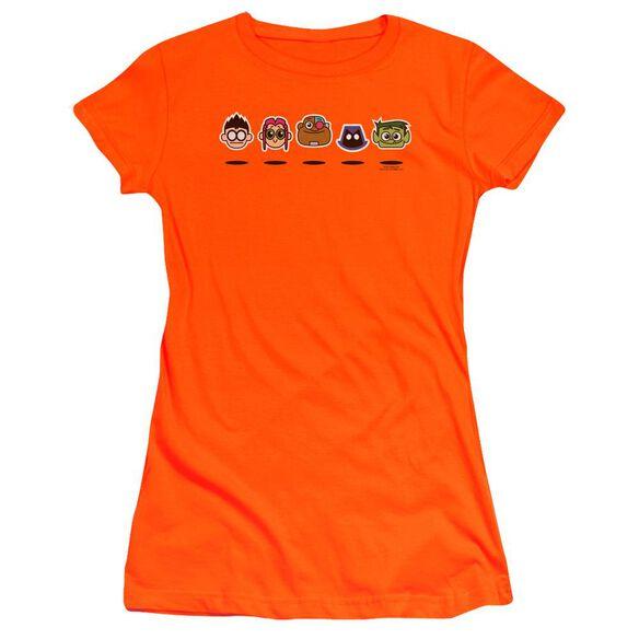 Teen Titans Go Floating Heads Hbo Short Sleeve Junior Sheer T-Shirt
