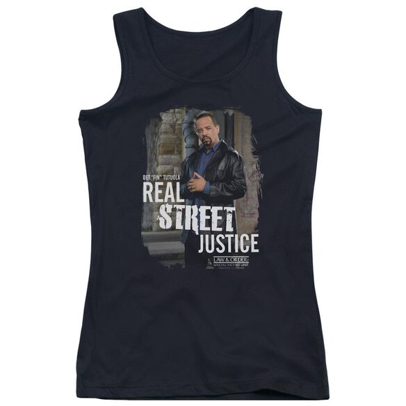 Law And Order Svu Street Justice Juniors Tank Top