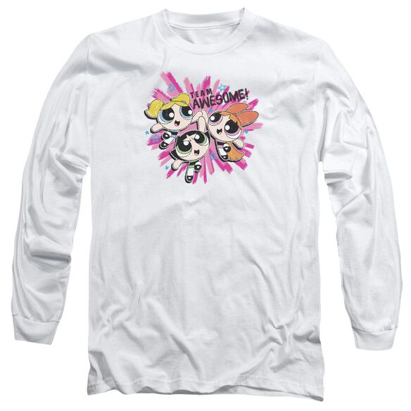 Powerpuff Girls Team Awesome Long Sleeve Adult T-Shirt