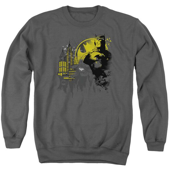 Batman The Dark City Adult Crewneck Sweatshirt