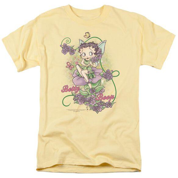 Betty Boop Flower Vine Fairy Short Sleeve Adult Banana T-Shirt