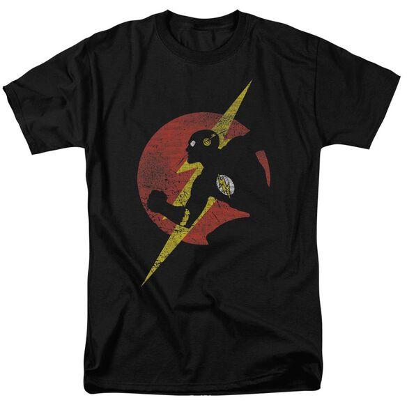 Jla Flash Symbol Knockout Short Sleeve Adult T-Shirt