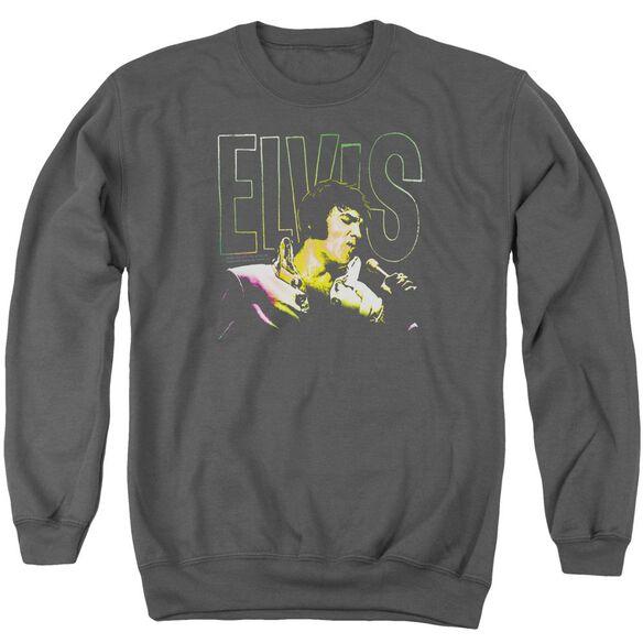 Elvis Multicolored Adult Crewneck Sweatshirt