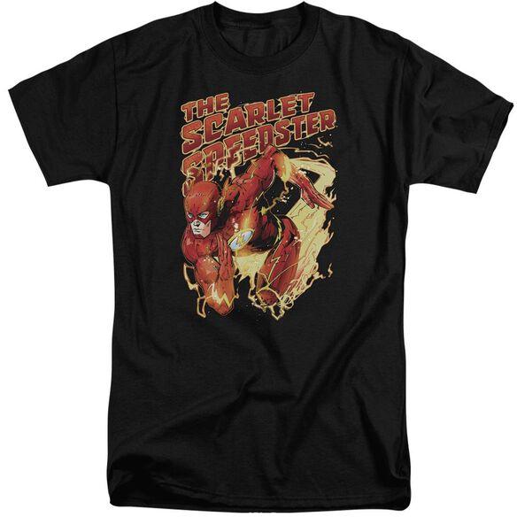 Jla Scarlet Speedster Short Sleeve Adult Tall T-Shirt