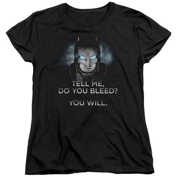 Batman V Superman Do You Bleed Short Sleeve Womens Tee T-Shirt