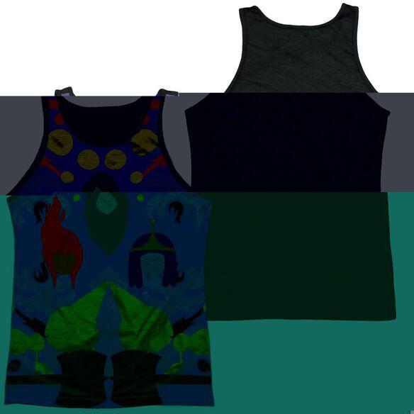 Adventure Time Pb, Fp & Marceline-adult Poly Tank Top