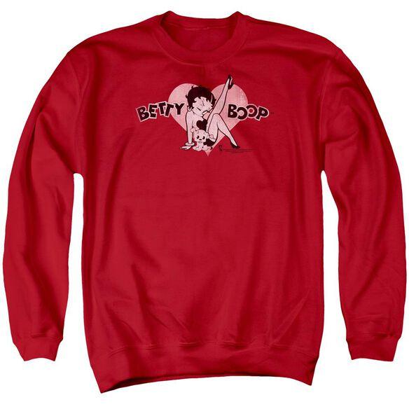 Betty Boop Vintage Cutie Pup Adult Crewneck Sweatshirt