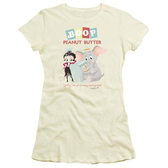Betty Boop Boop Peanut Butter Short Sleeve Junior Sheer T-Shirt