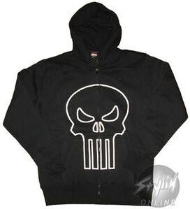 Punisher Outline Logo Hoodie