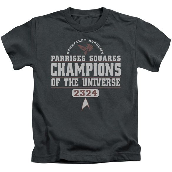 Star Trek Champions Short Sleeve Juvenile Charcoal T-Shirt