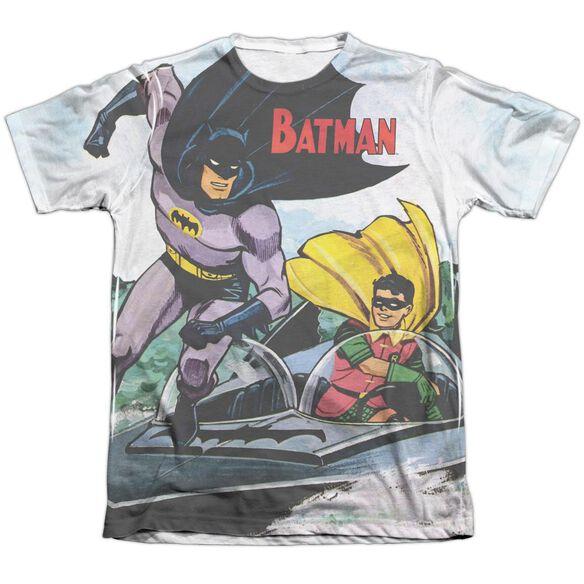 Batman Batboat Adult Poly Cotton Short Sleeve Tee T-Shirt
