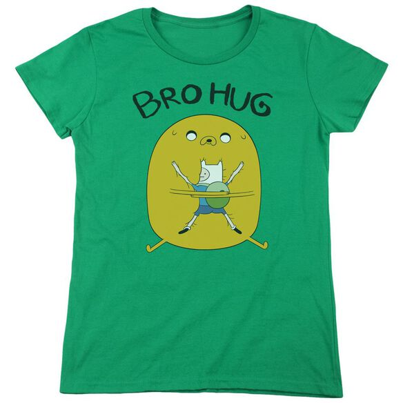 Adventure Time Bro Hug Short Sleeve Womens Tee Kelly T-Shirt