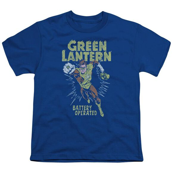 Green Lantern Fully Charged Short Sleeve Youth Royal T-Shirt