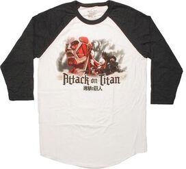 Attack on Titan Colossal Fight Raglan T-Shirt