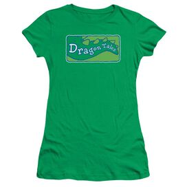 Dragon Tales Logo Clean Short Sleeve Junior Sheer Kelly T-Shirt
