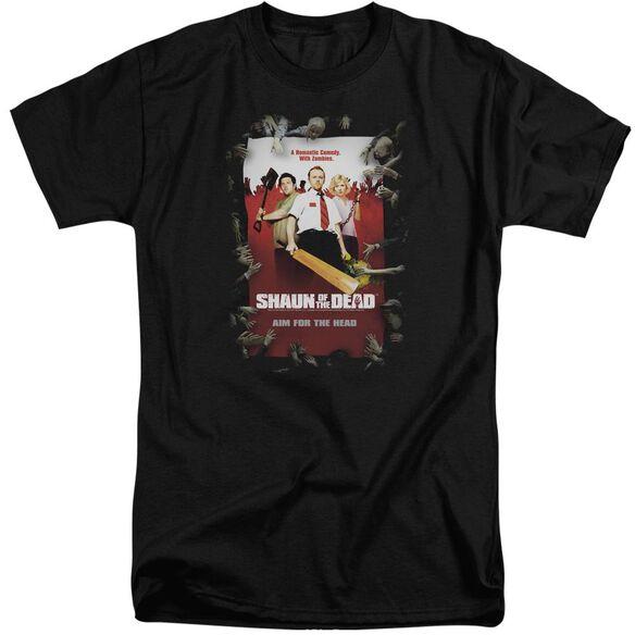 Shaun Of The Dead Poster Short Sleeve Adult Tall T-Shirt