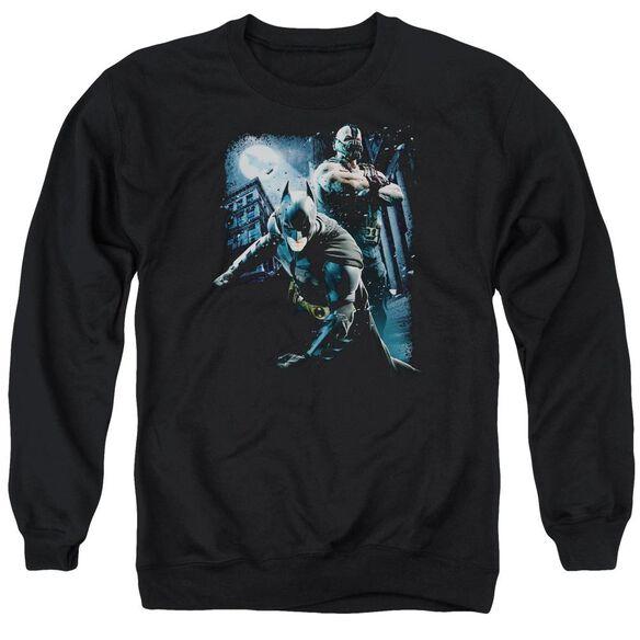 Dark Knight Rises Battlefield Gotham Adult Crewneck Sweatshirt