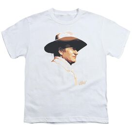 John Wayne Painted Profile Short Sleeve Youth T-Shirt