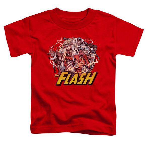 Jla Flash Family Short Sleeve Toddler Tee Red T-Shirt