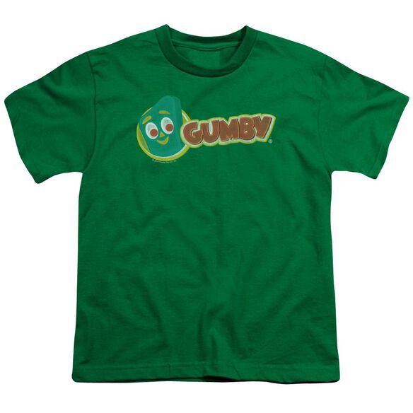 Gumby Logo Short Sleeve Youth Kelly T-Shirt