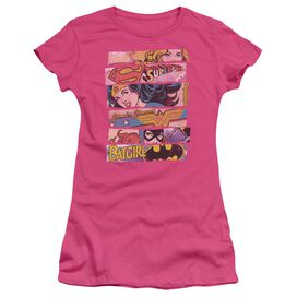 DC THREE OF A KIND - S/S JUNIOR SHEER - HOT PINK T-Shirt