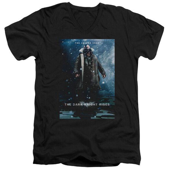 Dark Knight Rises Bane Poster Short Sleeve Adult V Neck T-Shirt