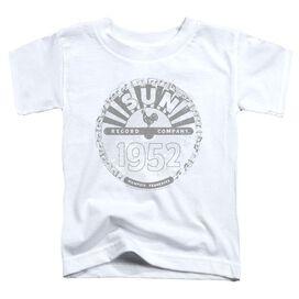 Sun Records Crusty Logo Short Sleeve Toddler Tee White T-Shirt