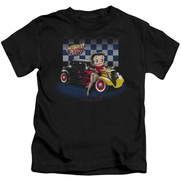 Betty Boop Hot Rod Boop Short Sleeve Juvenile Black T-Shirt