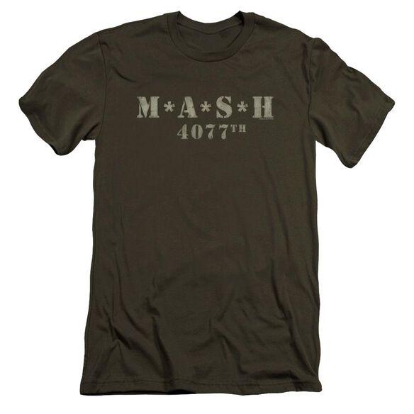 Mash Distressed Logo Premuim Canvas Adult Slim Fit Military