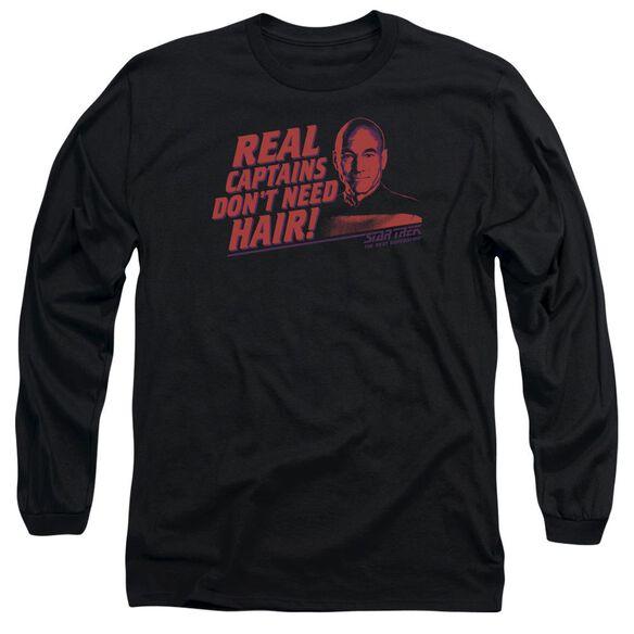 Star Trek Real Captain Long Sleeve Adult T-Shirt