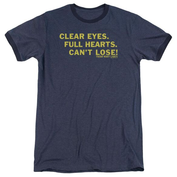 Friday Night Lights Clear Eyes Adult Heather Ringer Navy