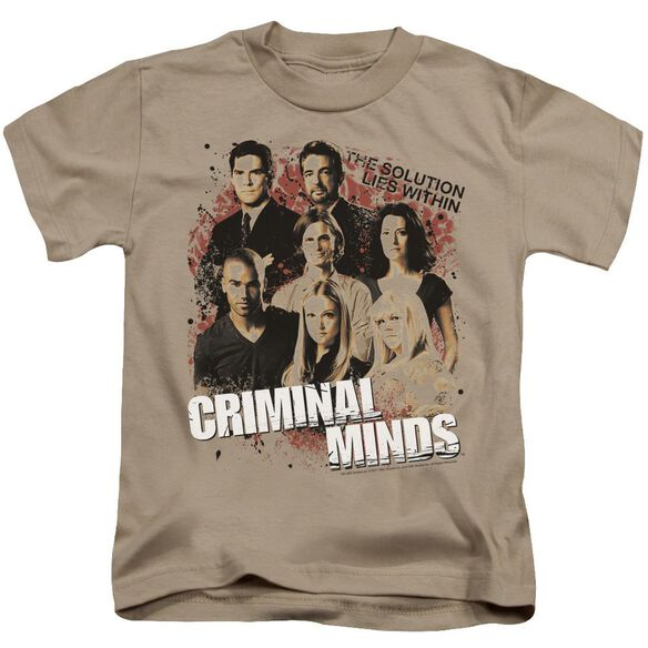 Criminal Minds Solution Lies Within Short Sleeve Juvenile Sand T-Shirt