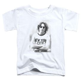 John Lennon New York Short Sleeve Toddler Tee White T-Shirt
