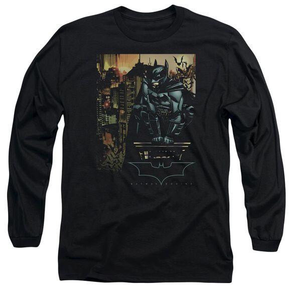 Batman Begins Waiting Long Sleeve Adult T-Shirt