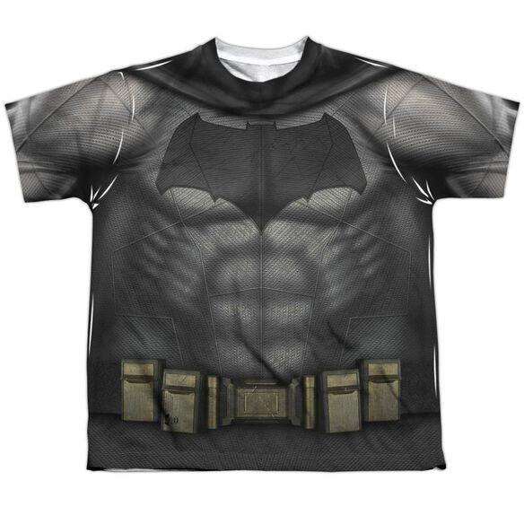 Batman V Superman Batman Uniform Short Sleeve Youth Poly Crew T-Shirt