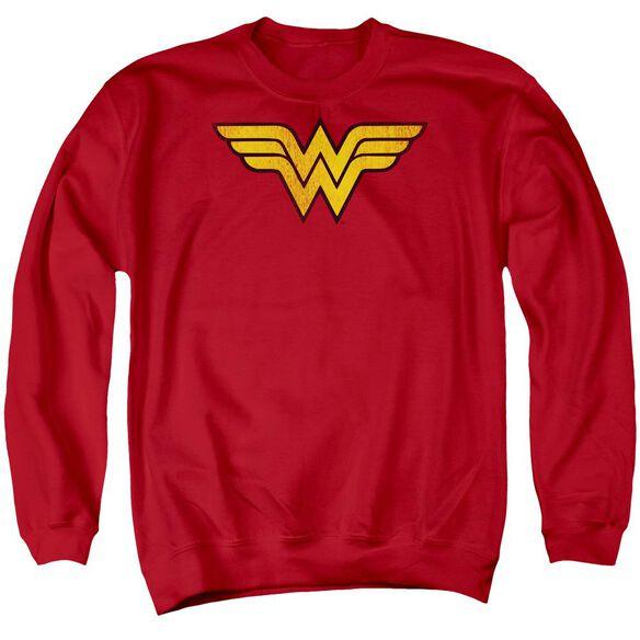 Dc Wonder Woman Logo Dist Adult Crewneck Sweatshirt