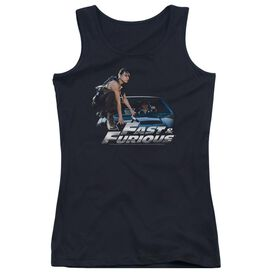 Fast And The Furious Car Ride - Juniors Tank Top - Black - Md - Black