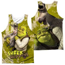 Shrek Best Friends (Front Back Print) Adult 100% Poly Tank Top