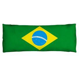 Brazil Flag Microfiber Body Pillow