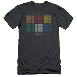 Rubik's Cube Minimal Squares Short Sleeve Adult T-Shirt