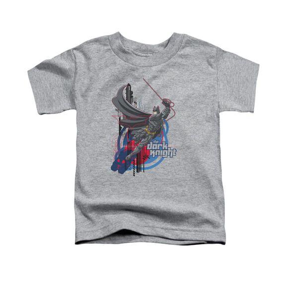 Dark Knight Swinging Dark Knight Short Sleeve Toddler Tee Athletic Heather T-Shirt