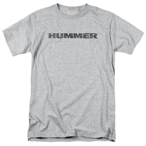 Hummer Distressed Hummer Logo Short Sleeve Adult Athletic T-Shirt