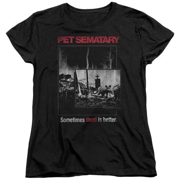 Pet Sematary Cat Poster Short Sleeve Womens Tee T-Shirt