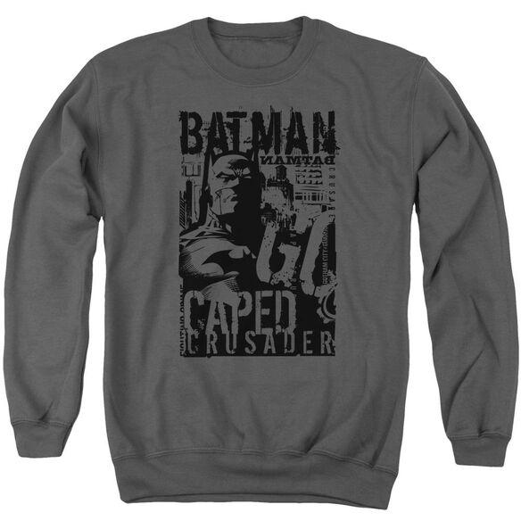 Batman Caped Crusader Adult Crewneck Sweatshirt