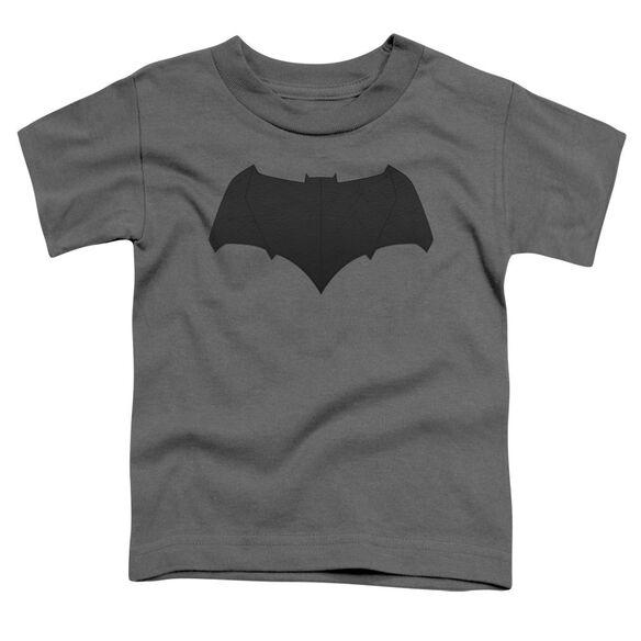 Batman V Superman Batman Logo Short Sleeve Toddler Tee Charcoal T-Shirt
